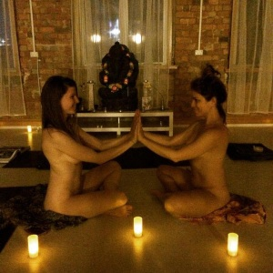 Nude Yoga me and rosie