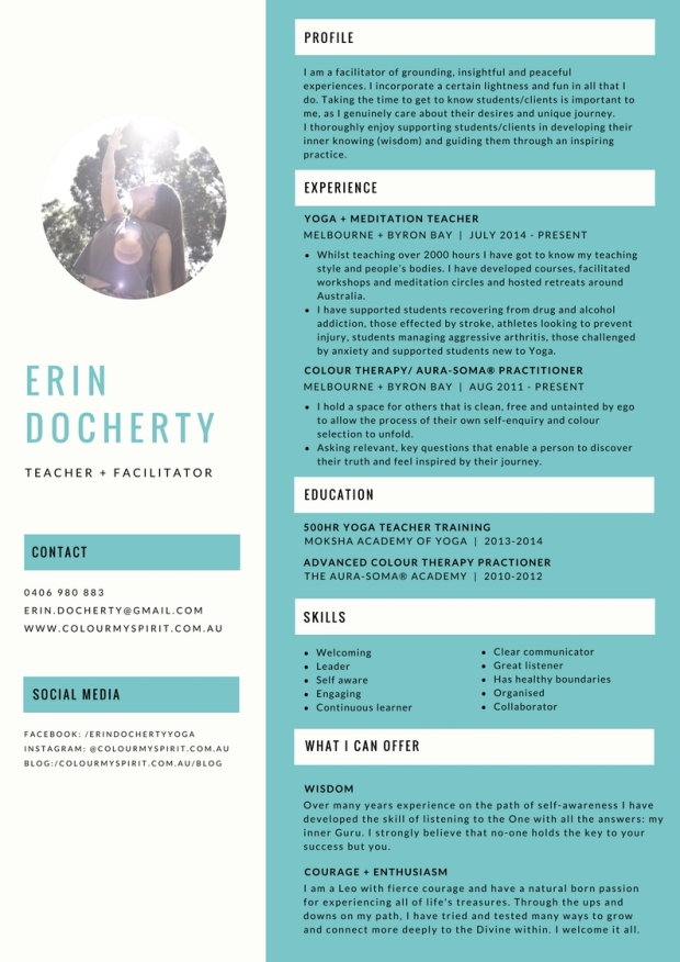 CV Teacher + Facilitator
